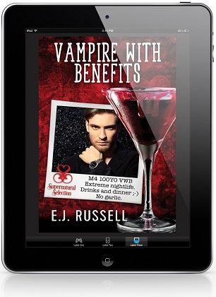 Vampire with Benefits by E.J. Russell Blog Tour, Excerpt & Giveaway!