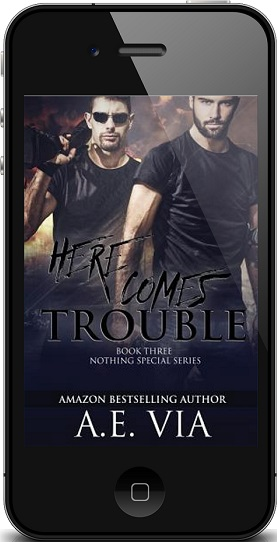 Here Comes Trouble by A.E. Via Audio Tour & Giveaway!