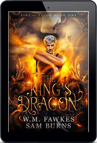 W.M. Fawkes & Sam Burns - The King's Dragon 3d Cover sc bhj79s