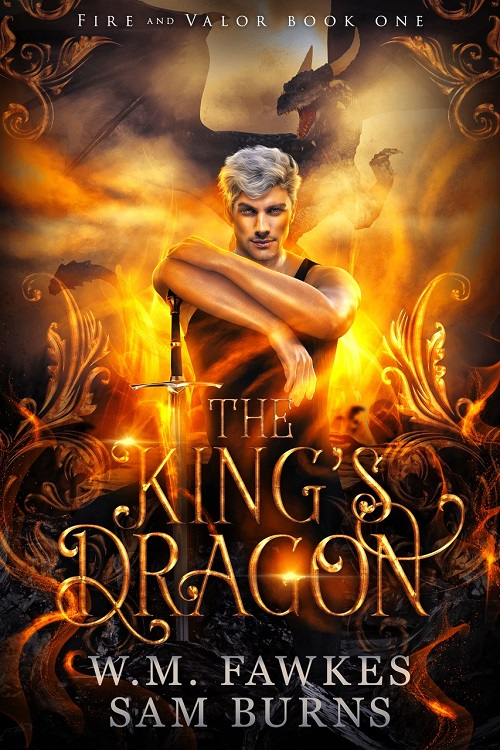 W.M. Fawkes & Sam Burns - The King's Dragon Cover 3n37e