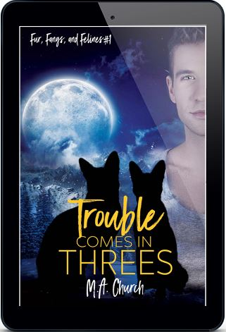 Trouble Comes in Threes by M.A. Church (2nd edition)
